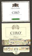 ITALIA - 2 Etichette Vino CIRO' Doc 2000-2003 Cantina IPPOLITO E CAPARRA&SICILIANI Bianco Della CALABRIA - Vino Bianco