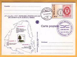 2001. Moldova Moldavie Moldau. FDC Orhei. Orgeev  Zemstvo,  Russia 130 Years Of Education The Zemstvo Post. - Moldova