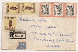 POLSKA WARSZAWA Registered Cover To STASBOURG France. 1958 - 1944-.... Republic
