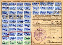 Fiscal, Fiscaux, Carte , Timbres Socio-Postaux  : (Alsace Lorraine) Période Allemande - Fiscaux
