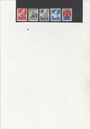 PAYS BAS  SERIE N° 190 A 194 NEUVE X  -60 EME ANNIVERSAIRE DE LA CROIX ROUGE - ANNEE 1927 - COTE :35 € - Period 1891-1948 (Wilhelmina)