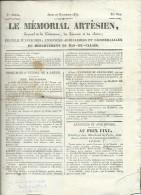 Journal - Le Memorial Artésien , Du Jeudi 27 Decembre 1832  - Ax126 - Documenti Storici