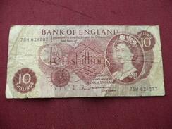 GRANDE BRETAGNE Billet De 10 Schillings Ayant Circulé - 1952-… : Elizabeth II
