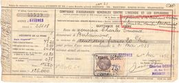 Wissel - Reçu - Assurances Agence D' Avesnes  -  Clotaire Bertrand Berlaimont 1935 - Lettres De Change