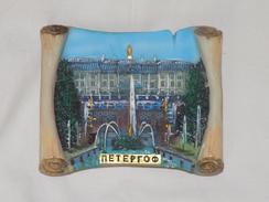Russian Vintage Plate Peterhof - Figurines