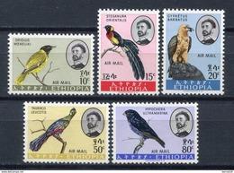 Etiopía 1963. Yvert A 74-78 * MH. - Etiopía