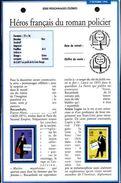 FRANCE Philatelic Document 1996 French Heroes Of The Detective Novel Héros Du Roman Policier Arsène Lupin Nestor Burma - Police - Gendarmerie