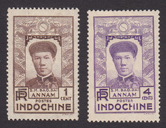 Indo-China, Scott #171, 173, Mint Hinged/No Gum, Emperor Bao-Dai, Issued 1936 - Indochine (1889-1945)