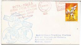 ESPAÑA ROBLEDO CHAVELA ESTACION NASA 1973 MARINER FRANQUEO MECANICO METER INTA NASA - Cartas