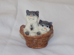 Russian Vintage Statuette Cats - Cats