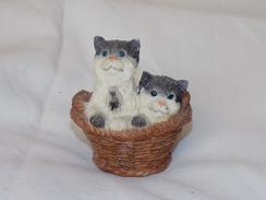 Russian Vintage Statuette Cats - Katten