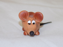 Russian Vintage Statuette Rat - Beeldjes