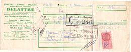 Wissel - Reçu - Grains Delattre - La Chapelle Sur Loire -  Clotaire Bertrand Berlaimont 1946 - Lettres De Change
