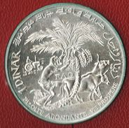 TUNISIE 1 DINAR 1970 FAO 25th Anniversary KM# 302  Habib Bourguiba  ARGENT SILVER - Tunisia