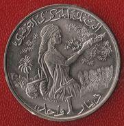 TUNISIE 1 DINAR 1976 FAO KM# 304 Habib Bourguiba - Tunisia