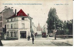 BRUXELLES-CHAUSSEE D'IXELLES-BRASSERIE IN DE STER-JEU DE QUILLES-PROPRIETAIRES MEESTERS-SAELAERT-TRAM-EGLISE Ste CROIX - Ixelles - Elsene