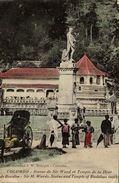 SRI LANKA. CEYLON. COLOMBO. STATUE DE SIR WARD ET TEMPLE DE LA DENT DE BOUDHA - Sri Lanka (Ceilán)