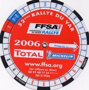 76x Course Automobile Tacot Programme Disque Rallye N° 52 Du Var  FFSA Total Michelin - Automovilismo - F1