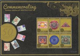 BHUTAN ; SCOTT # ?? ; IGPC1302 SH* ; MINT N.H STAMPS ( COMMEMORATING 50 Th OF BHUTAN POST - Bhutan