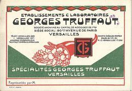 Carte De Visite Etablissements Et Laboratoires Georges Truffaut Siège à Versailles - Visiting Cards