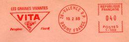 """Graine, Fleur, Potager, """"Vita"""", Drome, Valence - EMA Havas T - Enveloppe Entière (S118) - 2. Graines"""