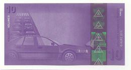 "Werbenote (promotional Note) ""KURZ Traffic 10"", RRRRR, UNC, Hologram - Deutschland"