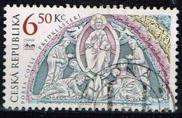 """Tschechien 2003, Michel# 370 O The Porch Of The Basilica Of The """"PORTA COELI"""" Monastery - Usados"""