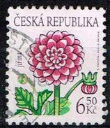 Tschechien 2003, Michel# 378 O Flowers: Dahlia - Czech Republic