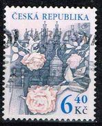Tschechien 2003, Michel# 353 O Roses Above Prague - Czech Republic