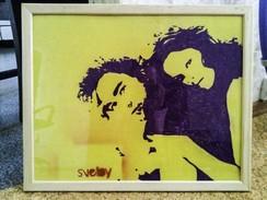 Hand-made Painting Robert Pattinson And Kristen Stewart - Pastels