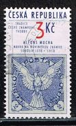 "Tschechien 1995, Michel# 63 O A.Mucha: The Proposal Of Newspaper Stamp ""Falcon In Flight"" - Czech Republic"