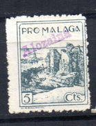 Viñeta Pro Malaga Sobrecarga Alozaina - Verschlussmarken Bürgerkrieg