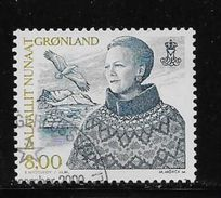 GREENLAND 2000-01,  USED  # 372,  QUEEN MARGRETTE       Used - Groenland
