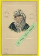 Afrique **** Egypte - Ethno - Femme Egyptienne (carte Toilée,embossée,colorisée) - África