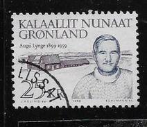 GREENLAND 1990,  USED  # 232,  AUGO LYNGE  USED - Groenland