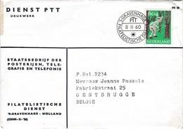 Nederland Zegel 732 Afstempeling Filatelistische Dienst 1960. + Inhoud Briefomslag. - 1949-1980 (Juliana)