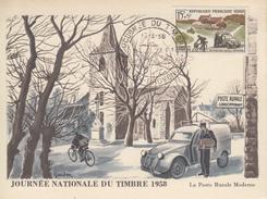 Carte  Maximum  1er  Jour  JOURNEE  Du  TIMBRE   AIX  EN  PROVENCE   1958 - Giornata Del Francobollo