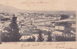 CARD IVREA PANORAMA DALLA SERRA  (TORINO)-FP-V1904-2-0882-27398 - Italia