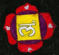 Hand-made Painting Root Chakra Muladhara - Pastelli
