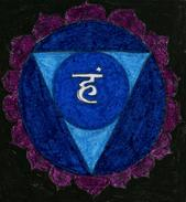 Hand-made Painting Vishuddha Or Vishuddhi - Pastelli
