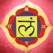 Hand-made Painting Root Chakra Muladhara - Gouaches
