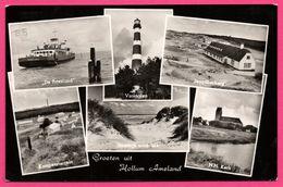 Groeten Uit Hollum Ameland - Multivues - Phare - Bateau - Mer - Église - Vuurtoren - Kerk - VAN LER'S - 1976 - Ameland
