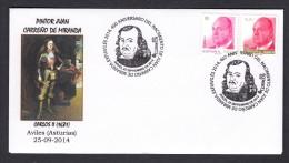 SPAIN ESPAGNE 2014. SPECIAL POSTMARK. 400 ANNIVERSARY PAINTER JUAN CARREÑO DE MIRANDA. AVILES ASTURIAS - Arte