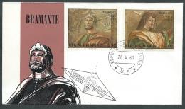 1969 SAN MARINO FDC RE.RU. BRAMANTE NO TIMBRO ARRIVO - KS2 - FDC