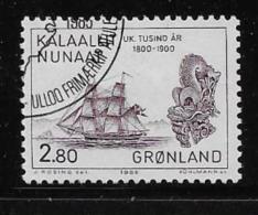 GREENLAND, 1985, USED # 156  TRADING SHIP & MASTHEAD  USED - Groenland
