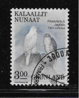 GREENLAND, 1987-90 USED # 177    FALCON - Groenland