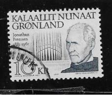 GREENLAND, 1991-2, USED # 242    JONATHAN PETTERSON  MUSICIEN - Groenland