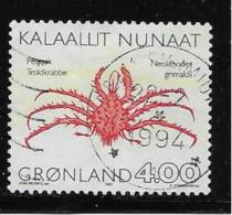 GREENLAND, 1993, USED # 256   CRABS      USED - Groenland