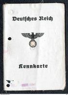KENNKARTE AUSWEISS Carte D´identité Allemande BERLIN 1940 Renouvelée Après La Fin De La Guerre - 1939-45