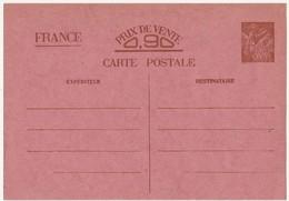 ENTIER POSTAL - Type IRIS - Sans Valeur - 140 X 90 Mm - 1940 - Yvert Et Tellier N°654 - Entiers Postaux